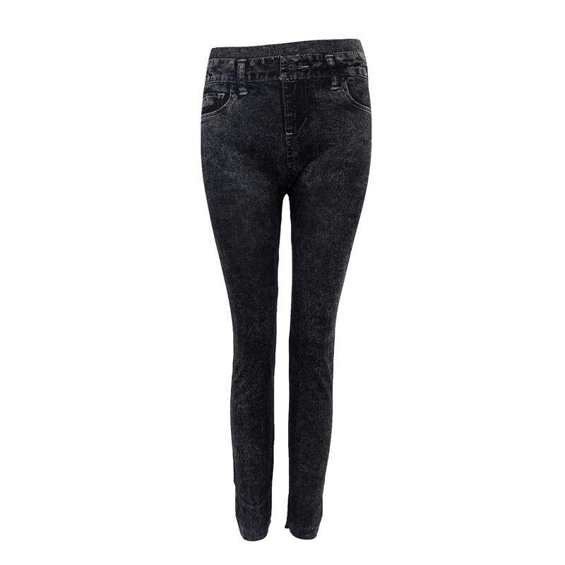 e0bb9d3717285 Women Denim Jeans Sexy Skinny Leggings Jeggings Tights Stretch Pants  Trousers - Black - Pattern Style