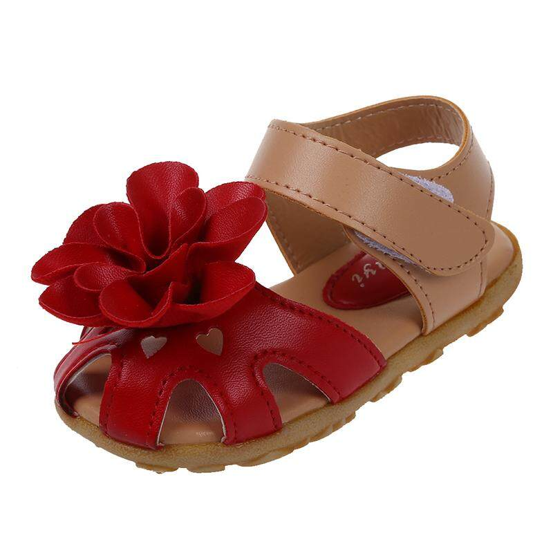 Red Summer Style Kids Shoes Girls Leather Sandals Children Casual Floral  Beach Sandals Girl Shoes US6 028e1f7a7046