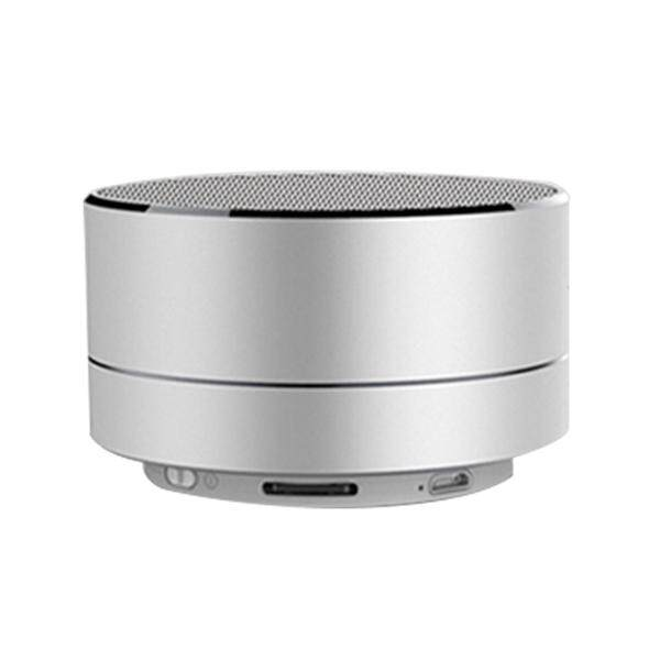 Wireless Bluetooth Speaker HiFi Super Bass Subwoofer Stereo Speaker Sound  Box Music Player Support Microphone U Disk TF Card (Silver)