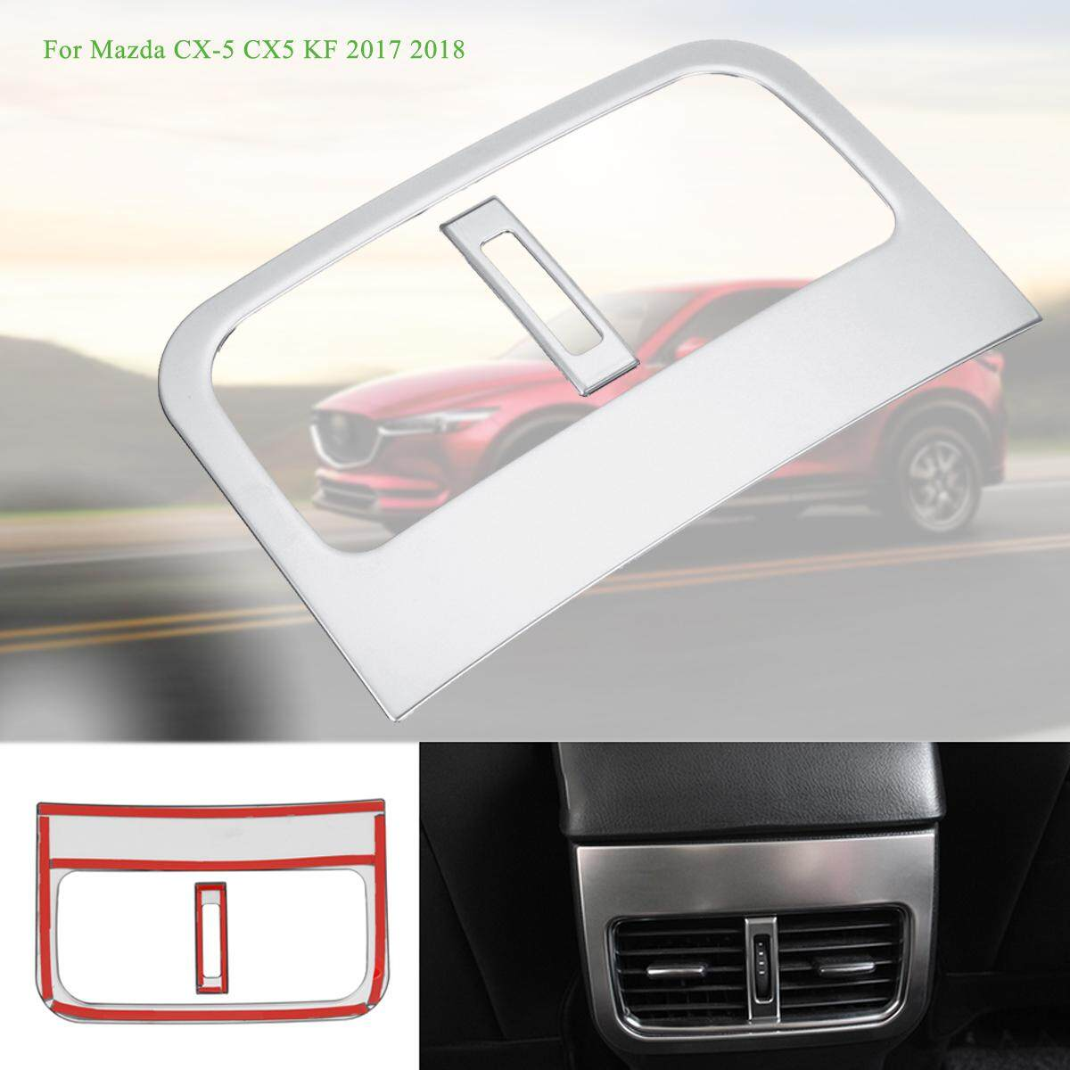 For Mazda Cx-5 Cx5 Kf 2017 2018 Car Rear Console Air Conditioner Outlet Frame Cover Silver By Audew.