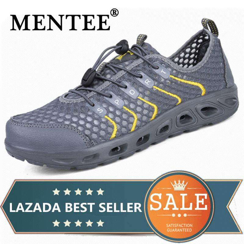 MENTEE Men And Women Outdoor Hiking Sneakers Shoes Wading Upstream  Breathable Mesh 43d22bba77