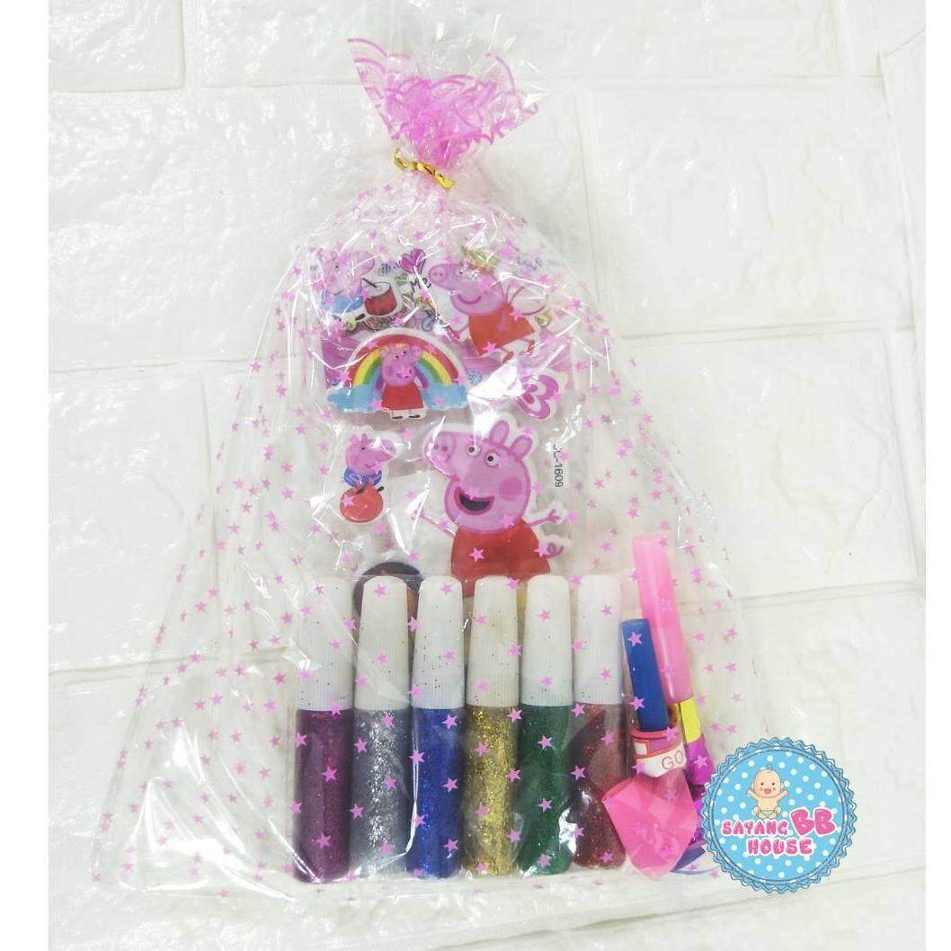 30set Birthday Party Gift Glitter Glue, Sticker, Whistle Party,whistle Balloon Party Kindergarten / Nursery By Sayang Bb House.
