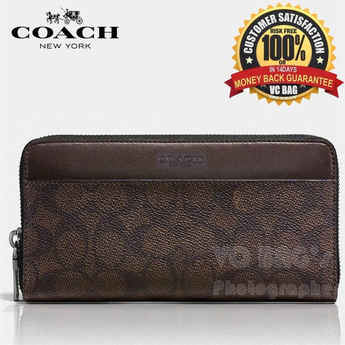68cdcf798720 greece coach f75000 mens signature accordion wallet mahogany 5a8c3 a4e9f