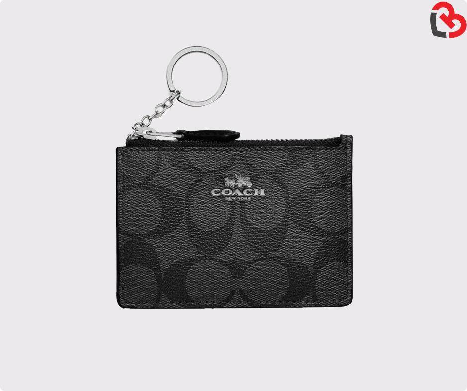 c738e976c768 [PRE ORDER] [GENUINE] COACH Black Smoke Mini Skinny ID Case In Signature