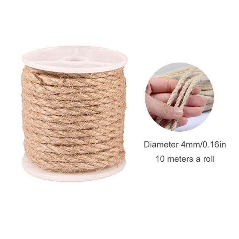 Jute Twine 10m Natural Jute String Rolls Durable Arts Crafts Packing Twine for Gardening Photos Gifts (3mm,4mm,5mm)