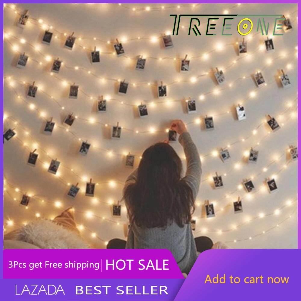 Treeone 3M20 LED Photo Clips String Lights Christmas Lights Starry Light  Wall Decoration Light