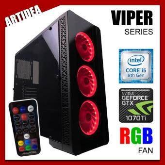 ARTIDEA NOVA VIPER GAMING PC ( i5-8400 / H310M MOBO / 8GB 2666MHz RAM / GTX 1070 Ti 8GB TWIN FAN / 1TB HDD / FSP 600W 80+ BRONZE PSU )