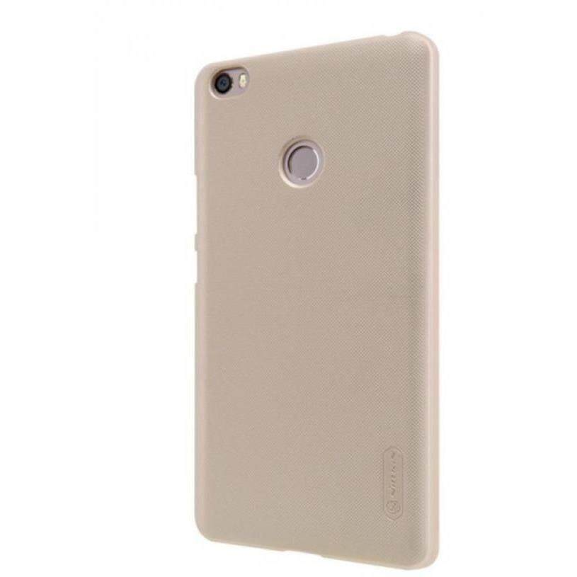 [clearance] Nillkin Super Frosted Shield Case For Xiaomi Mi Max, Casing Gold / Black By Tradeshoppe.