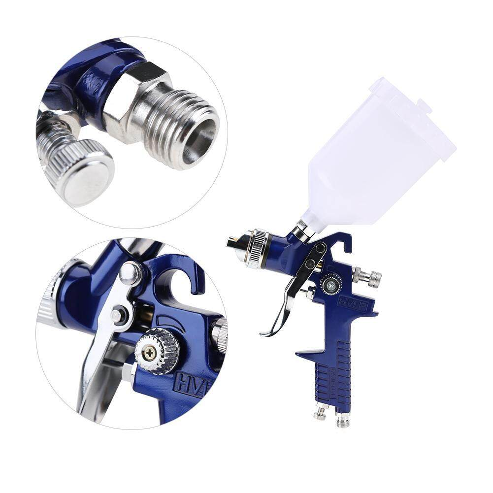 【Made in Italy 】1 set 1.4mm Nozzle 600ml Gravity Type Pneumatic Spray +Pressure Gauge+ Oil and Water Filter