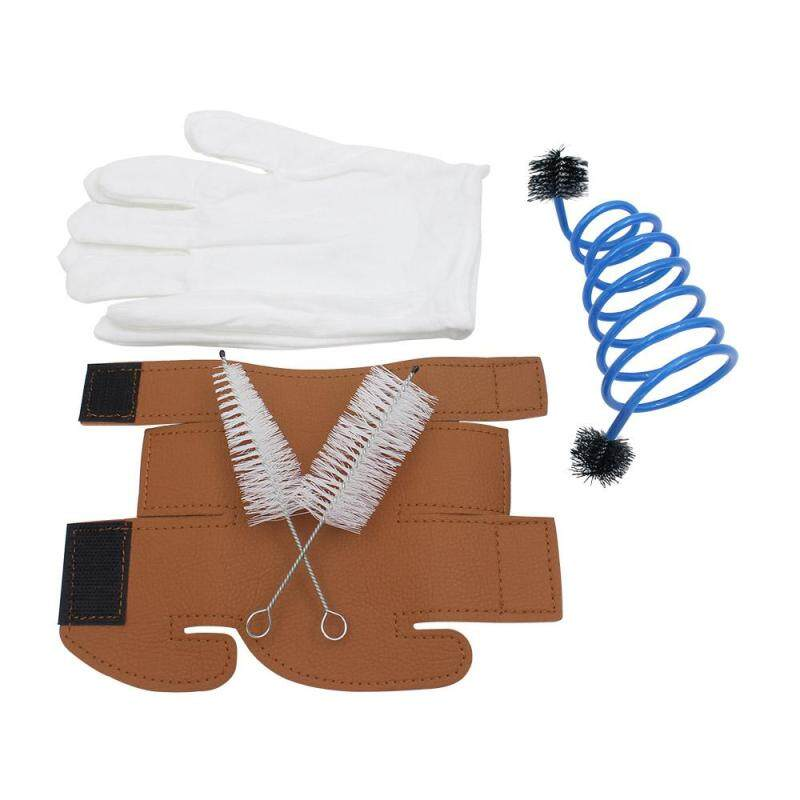 Star Mall 5 in 1 Trumpet Accessory Gloves Protective Cover Brush Cleaning Kit  Specification:5pcs/set Malaysia