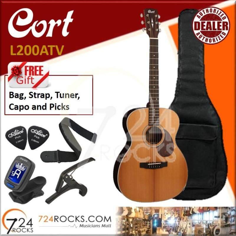 Cort L200ATV Luce Series Torrefied Solid Sitka Spruce OM Body Acoustic Guitar (L 200ATV, L-200ATV, L200 ATV, L200-ATV) Malaysia
