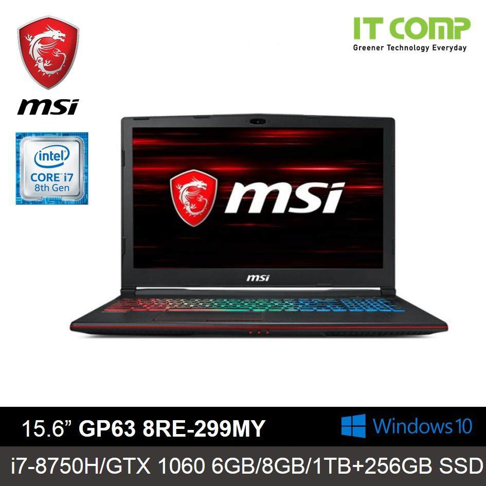 MSI GP63 8RE-299MY (Leopard) Gaming Laptop ( i7-8750H 8GB /1TB+256GB SSD / NVD GTX1060 6GB /15.6 Malaysia