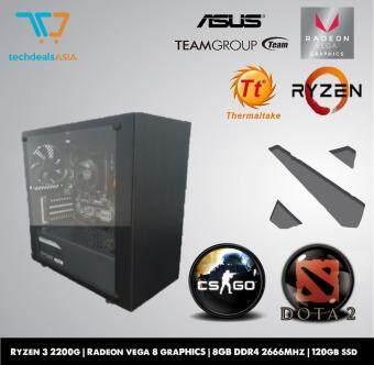 Gaming PC [RYZEN 3 2200G , RADEON 8 GRAPHICS , 8GB DDR4 2666Mhz , 120GB SSD]