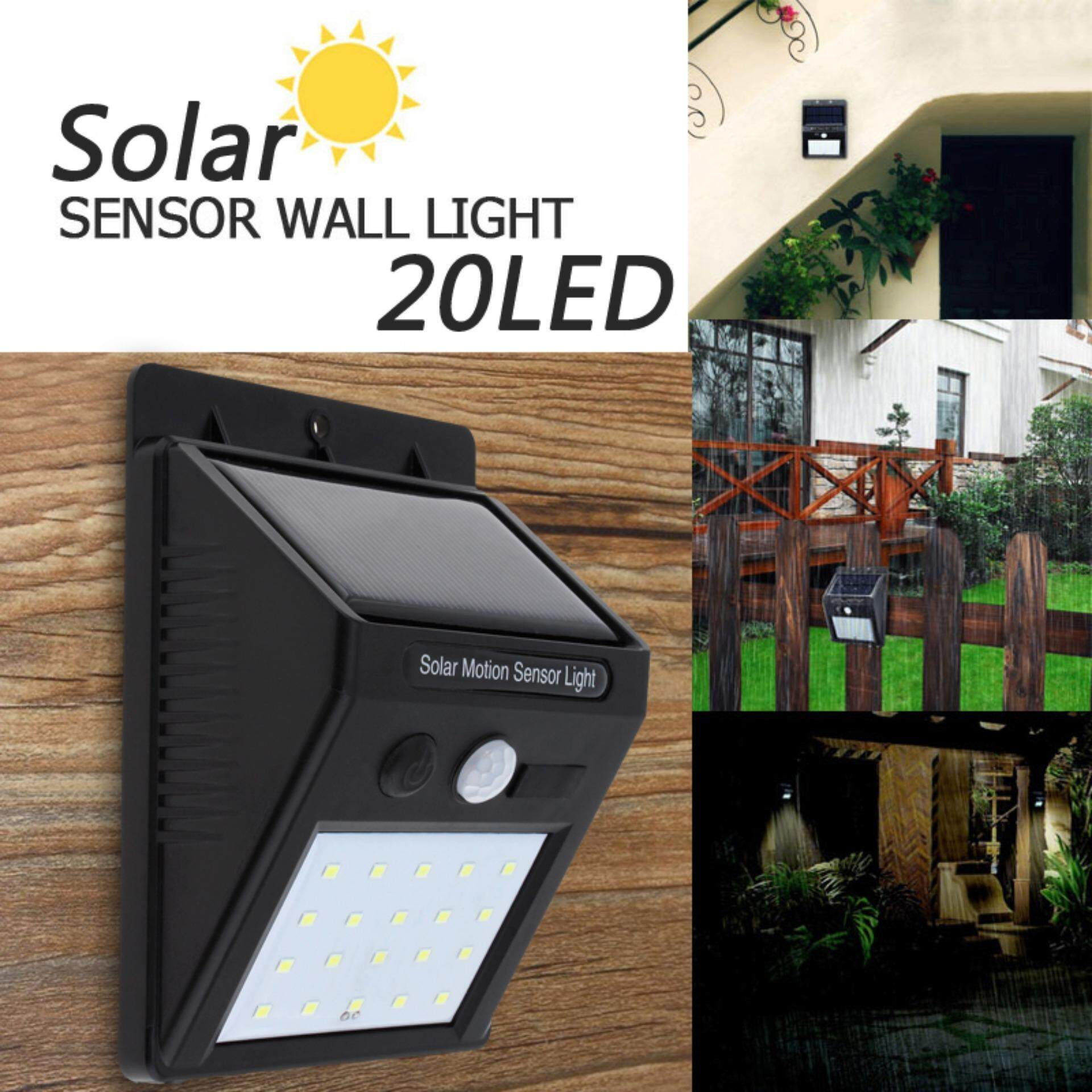 Solar Light Buy At Best Price In Malaysia Lazada Motion Wiring Diagram 20 Led Outdoor Waterproof Rechargeable Power Pir Sensor Wall Garden Lamp