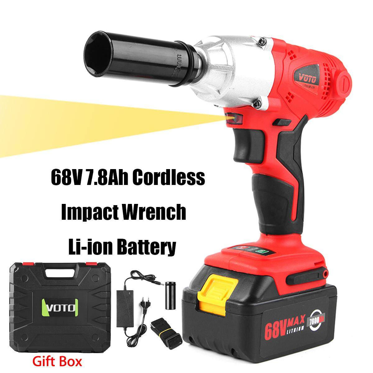 Home Impact Wrenches Buy At Best Price In Air 1 2 Inch Tekiro 68v 78ah Cordless Wrench Li Ion Battery High Torque Charger Power Tool