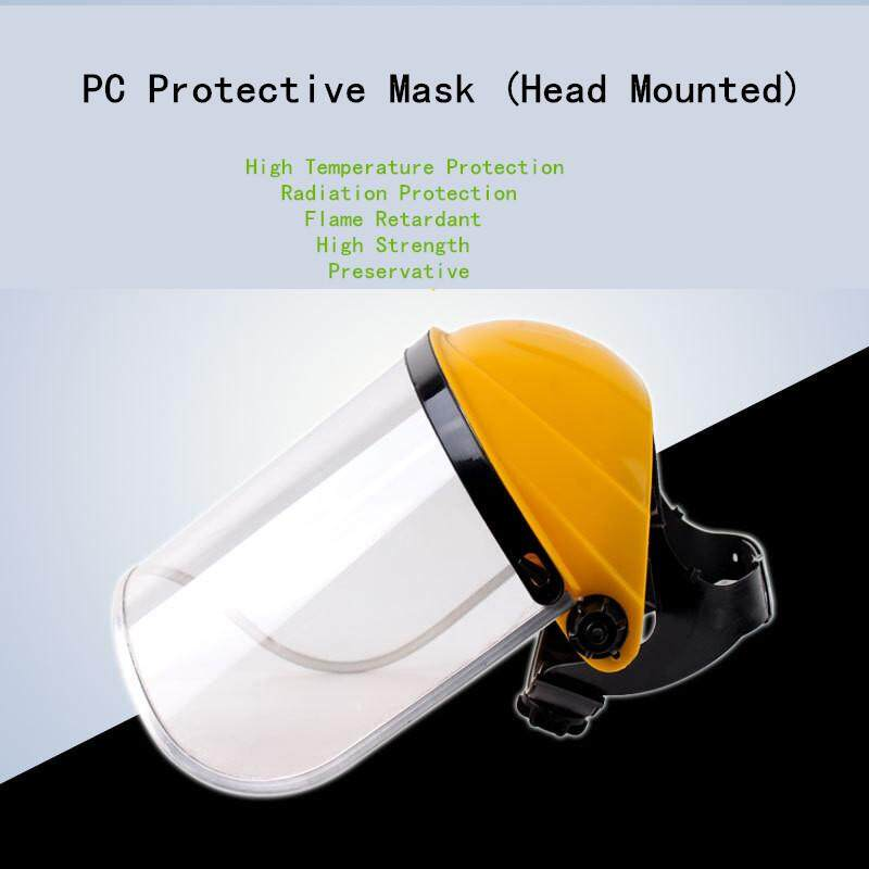 1PCS full face safety mask transparent protect mask Organic glass full face protection mask anti shock