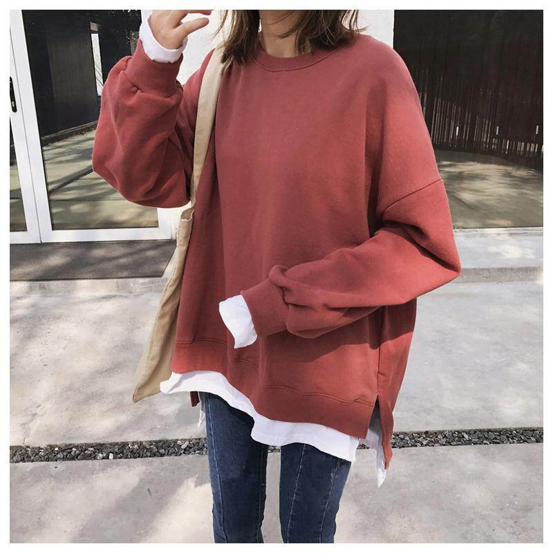 Sweatshirts Female Loose Wind Long Sleeve Shirt Pullover By Perfect Echo.