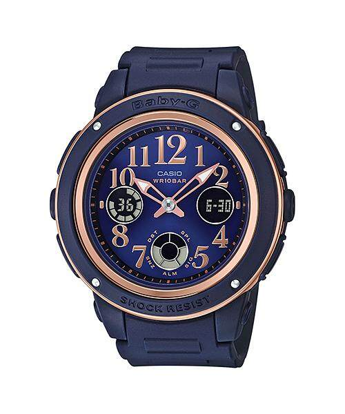 Casio Baby-G Special Color Models BGA-150PG-2B2 Womens Watch (Navy blue) Malaysia