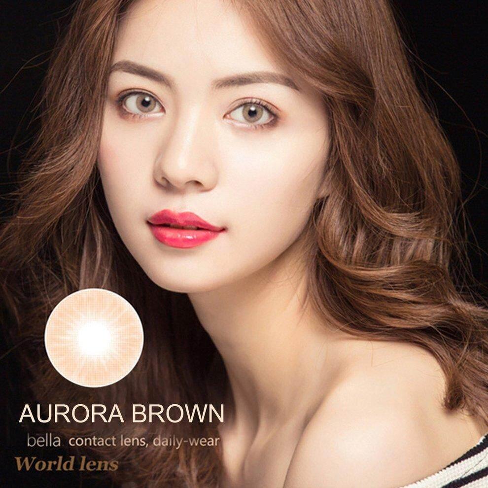 Popo 2pcs/set Beautiful Big Eye Women Cosmetic Big Eye Coloured Contact Lenses Brown By Bulapopo.