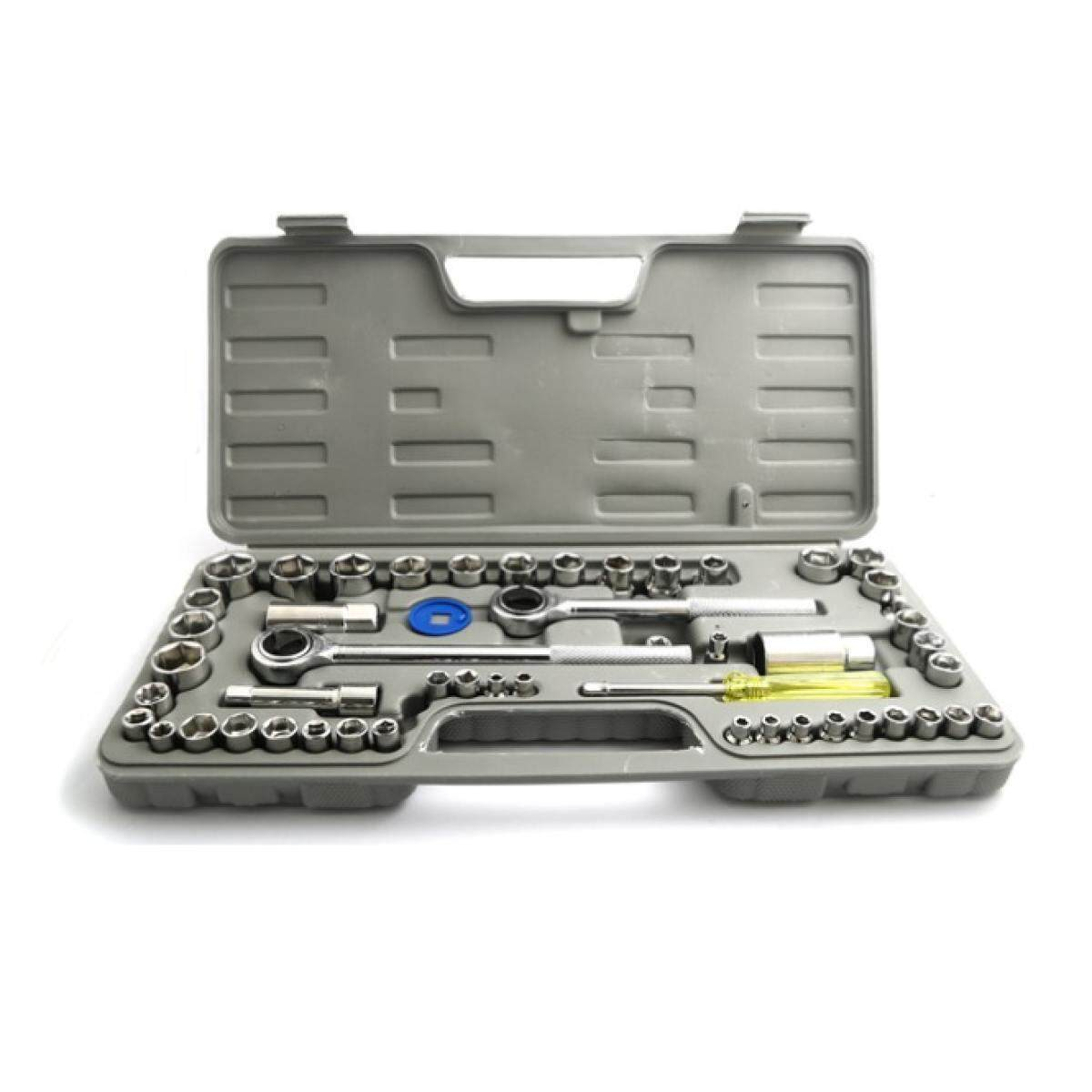 52 pcs Spanner Socket Set Ratchet Wrench Set Car Motorcycle Motor Bicycle Repair Tool box set