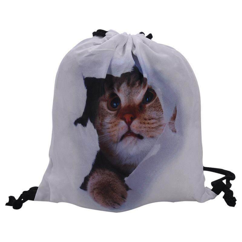 Unisex Emoji Backpacks 3D Printing Bags Drawstring Backpack(white)39 30cm c73a28c464