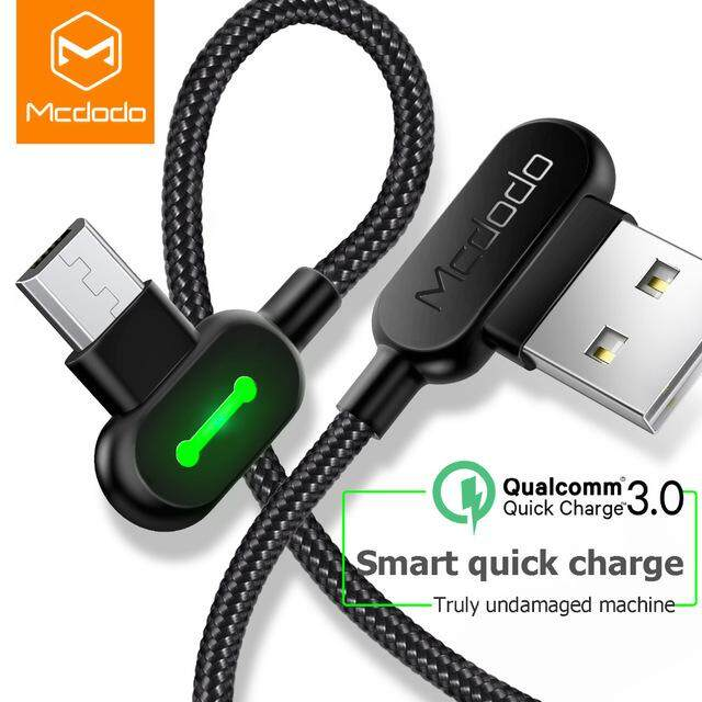 View Product · [ORIGINAL] MCDODO 90 Degree Micro USB Reversible Design with LED Light 1.8M Data