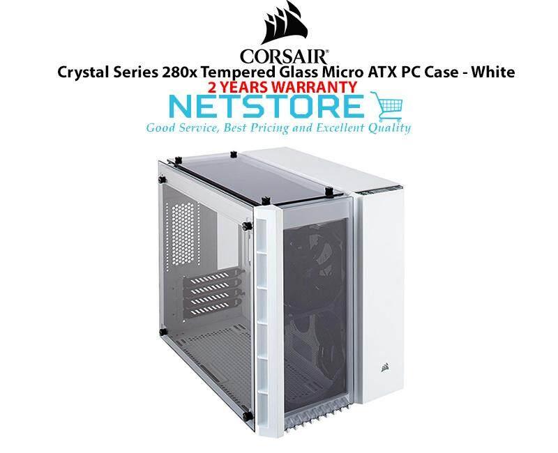 Corsair Crystal Series 280X Tempered Glass TG Micro ATX PC Case White CC-9011136-WW Malaysia