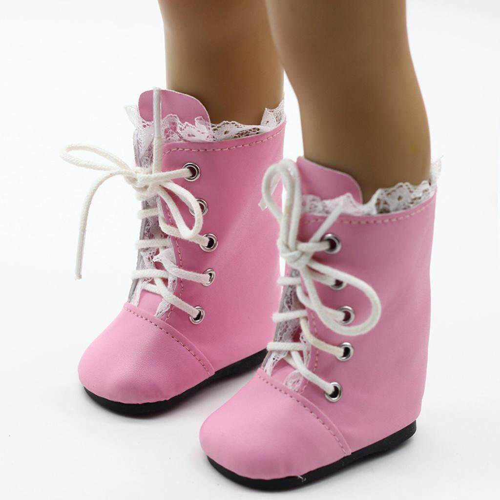 Bolehdeals Fashion Lace Boots Lace-Up Shoes For 18inch American Girl Our Generation My Life Journey Dolls Party Outfit By Bolehdeals.