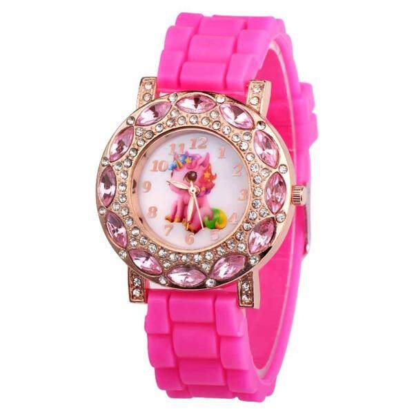 Amart Fashion Cute Children Girl Wrist Quartz Watch Round Durable Unicorn Pattern Cute Casual Gift Malaysia