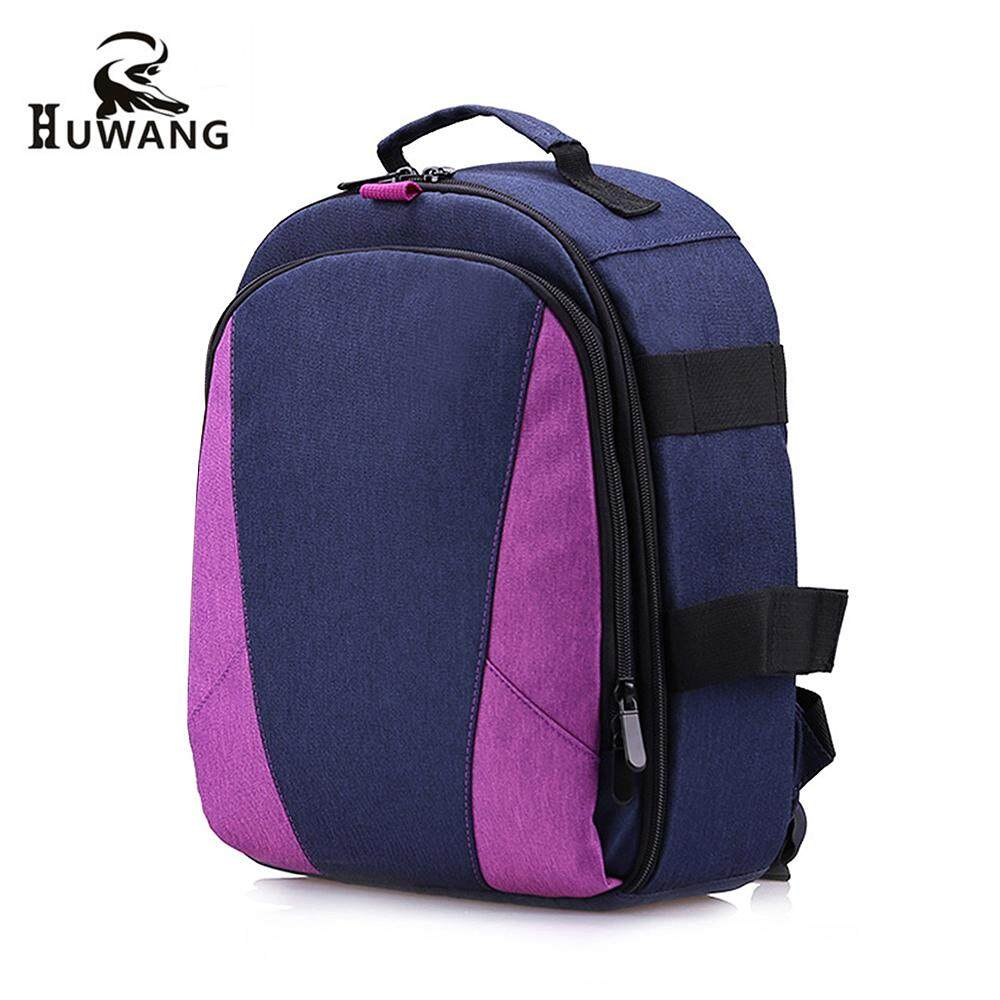 Hu Outdoor Photography Padded Camera Bag Travel Backpack Shock Proof Water Resistant With Tripod