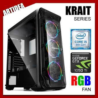 ARTIDEA LUX ll KRAIT GAMING PC ( i5-8400 / H310M MOBO / 8GB 2666MHz RAM / GTX 1050 Ti OC 4GB TWIN FAN / 1TB HDD / FSP 500W BRONZE 80+ PSU )