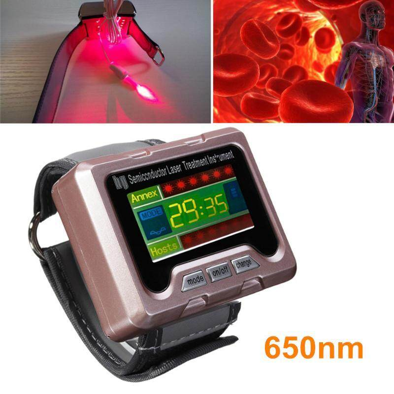 650nm Laser therapy Wrist apparatus High Blood Pressure Watch High Fat Blood Malaysia