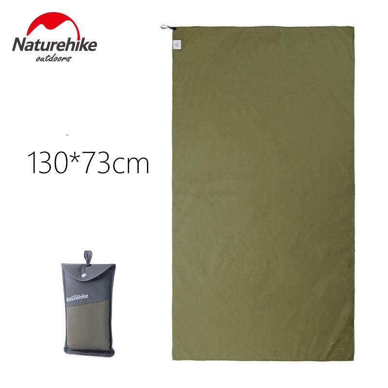Naturehike Outdoor Traveling Hiking Camping Swimming Compact Microfiber Antibacterial Quick Drying Bath Shower Towel Army Green