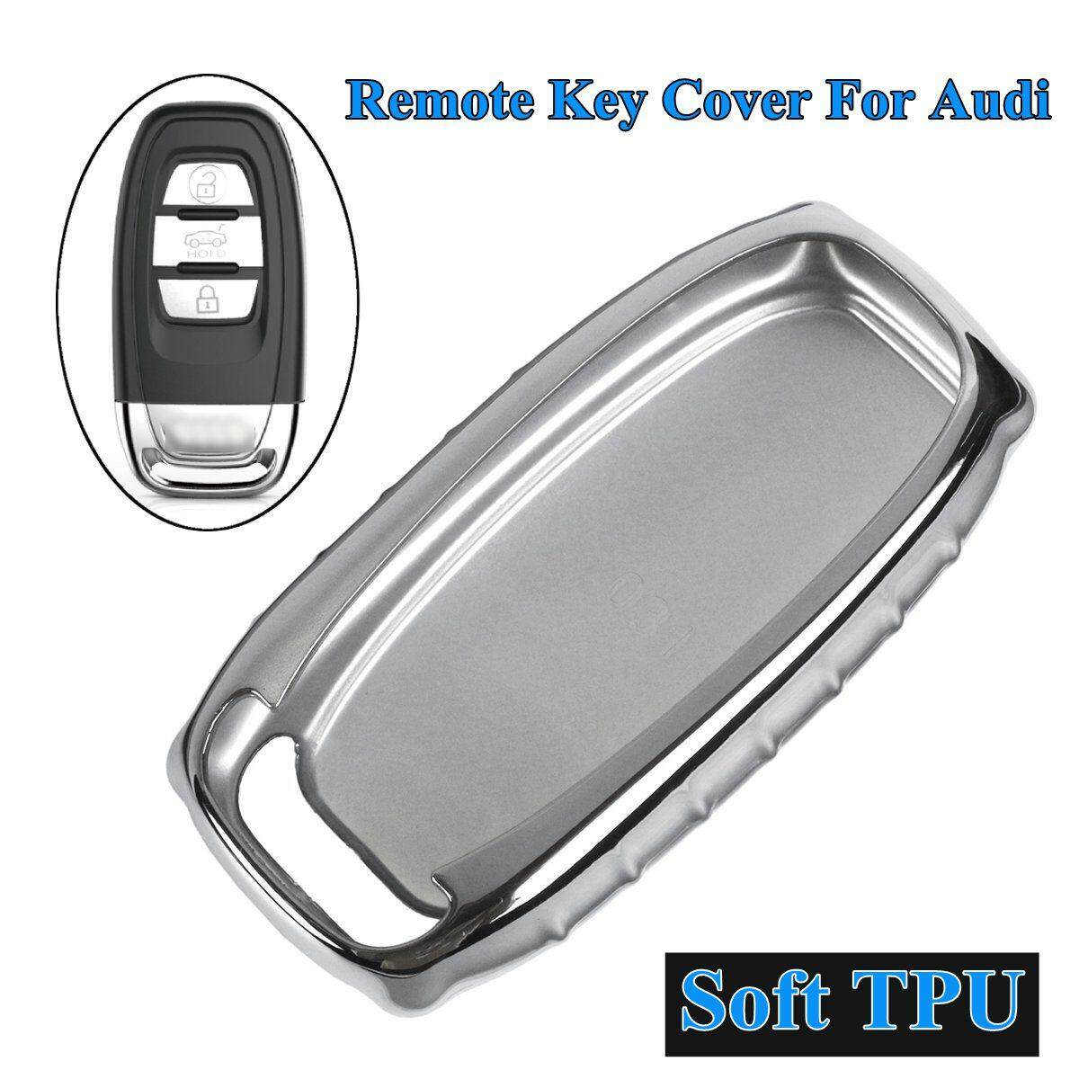 Tpu Remote Key Cover Case Shell For Audi A4 A5 A6 Q5 Rs7 S7 A7 A8 Q5 S5 S6 (silver) By Teamwin.