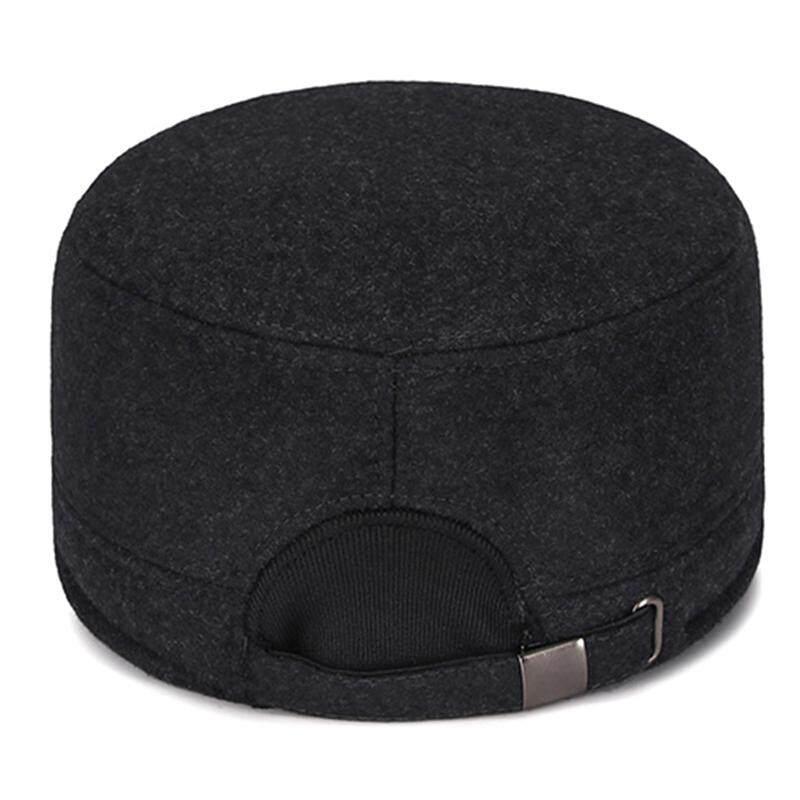 819b5052f Men Women Winter Plus Woolen Earmuffs Military Army Cap Outdoor Thicken  Flat Top Hats