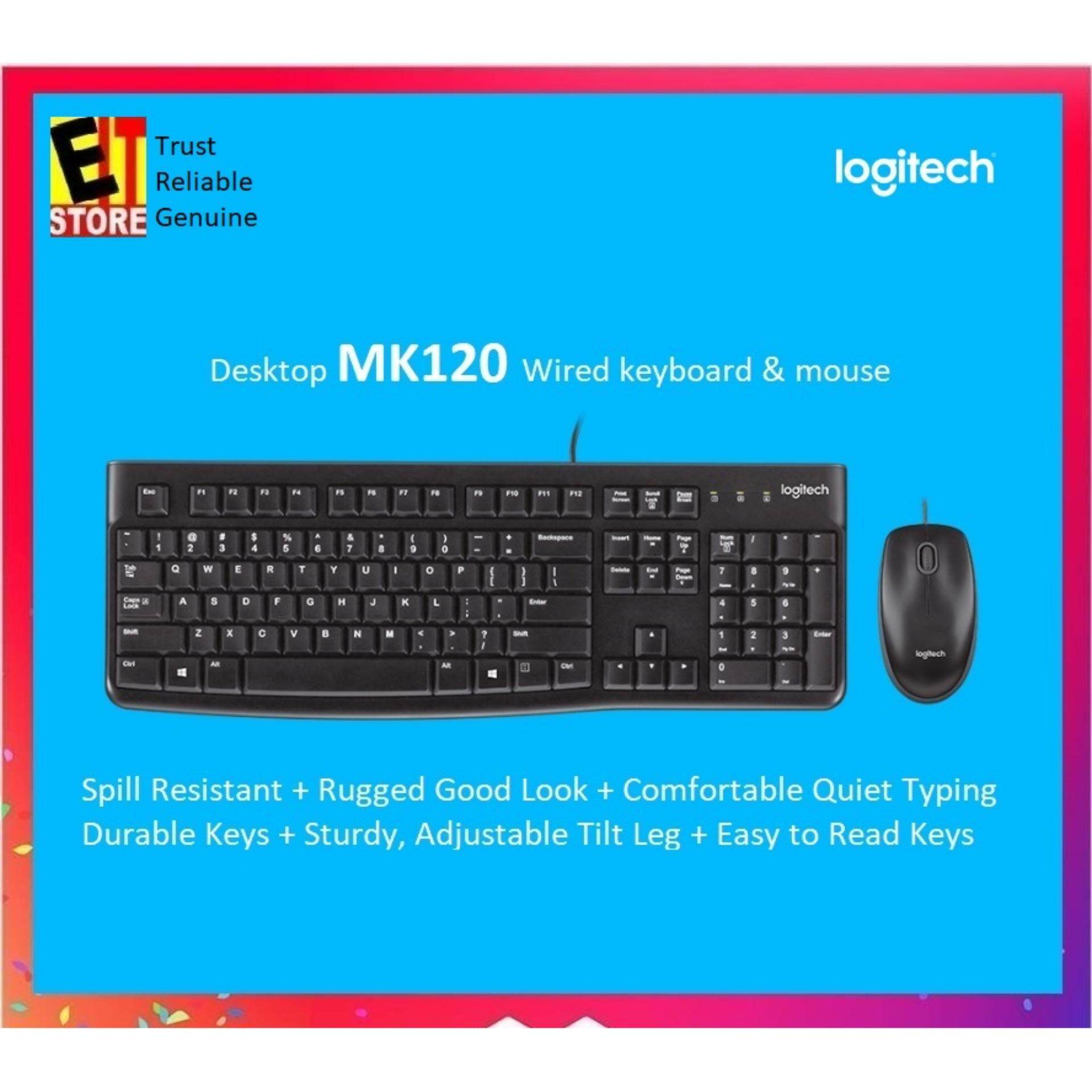 Logitech Computer Accessories Keyboards Price In Malaysia Best Wireless Touch Keyboard K400 Plus White Key 1 Mk120 Desktop Usb Mouse