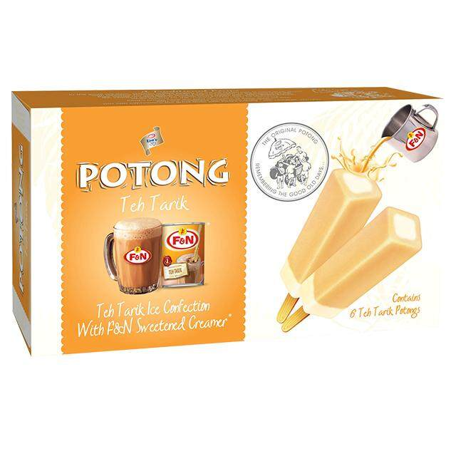 F&n Kings Potong Teh Tarik Flavoured Ice Cream (6s X 60ml) (kl & Sl Delivery Only) By Jocom Mshopping Sdn Bhd.