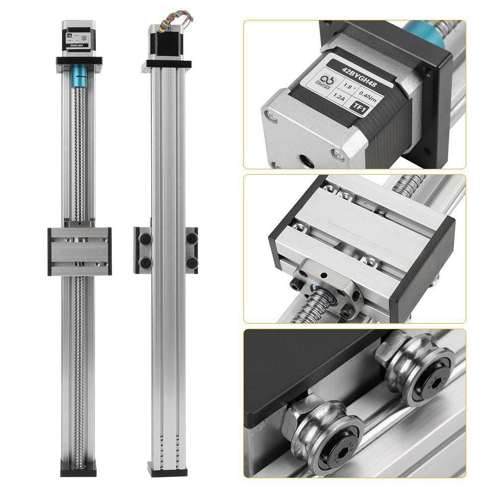 Buy 【Promotions】1204 Ball Screw Linear Slide Stroke Long Stage Actuator  with Stepper Motor 400mm Stroke Malaysia