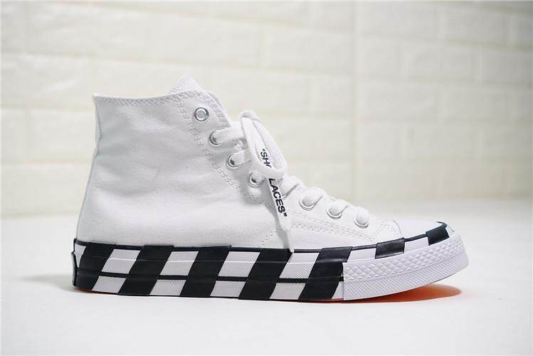 Converse Official WOMEN Skateboarding Shoes OFF White x Chuck 1970S 2.0  High Top Global Sales ( e118bc7c17