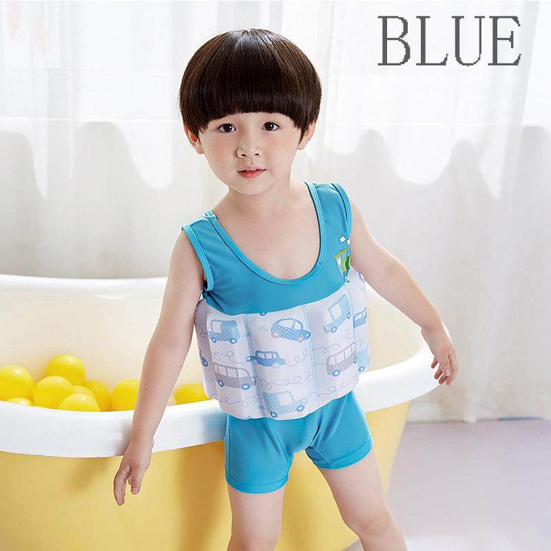 6c4a7a6defd68 Children Boys Girls Swimsuits Floating Kids One Piece Swimwear Quick Dry Cute  Cartoon Printed Swiming Suit