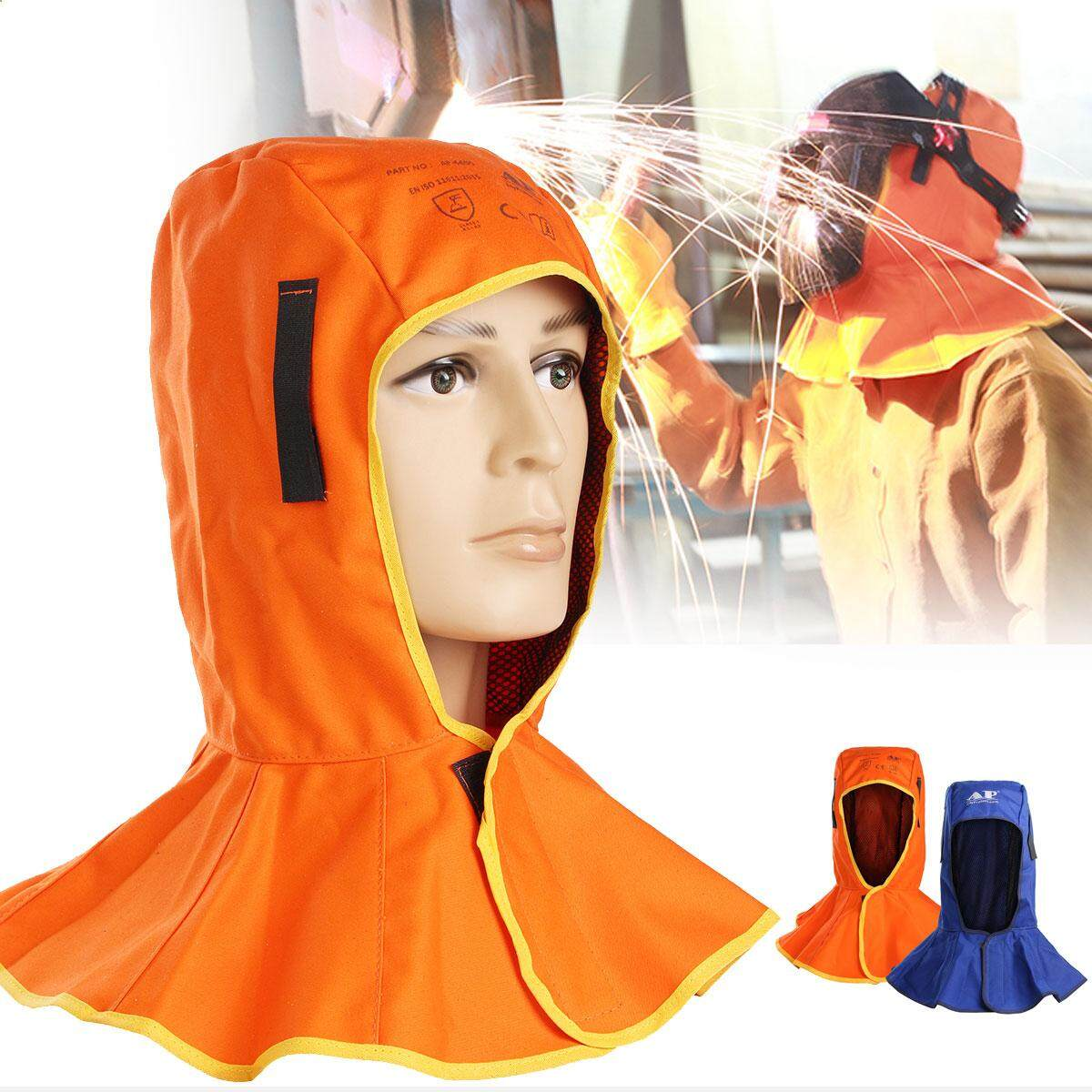 Flame Retardant Safety Helmet Welding Neck Protection Hood Welder Head Cap Cover