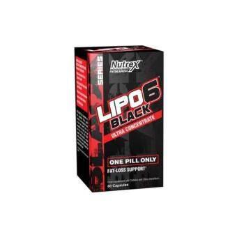 (ORIGINAL) NUTREX LIPO 6 BLACK ULTRA CONCENTRATE FAT BURNER ( 60 CAPSULES ) Lipo6