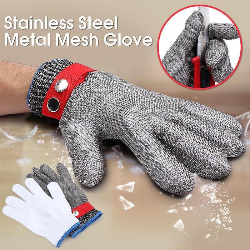 Safety Cut Proof Stab Resistant Stainless Steel Metal Mesh Butcher Work Gloves
