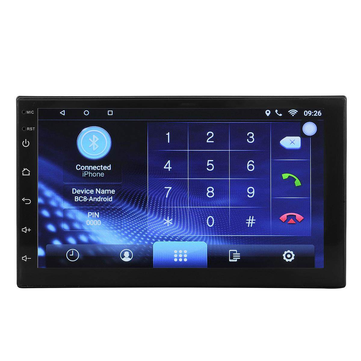 2 Din 7inch Android 6.0.1 Car Stereo Radio Built-In Mp5 Player Gps Wifi Bluetooth By Elec Mall.
