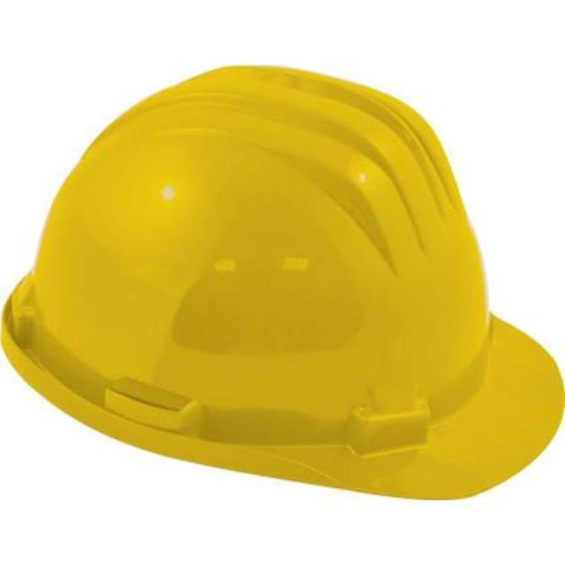 SAFETY HELMET STD + PLASTIC 6 POINT HARNESS YELLOW SSF9572080K