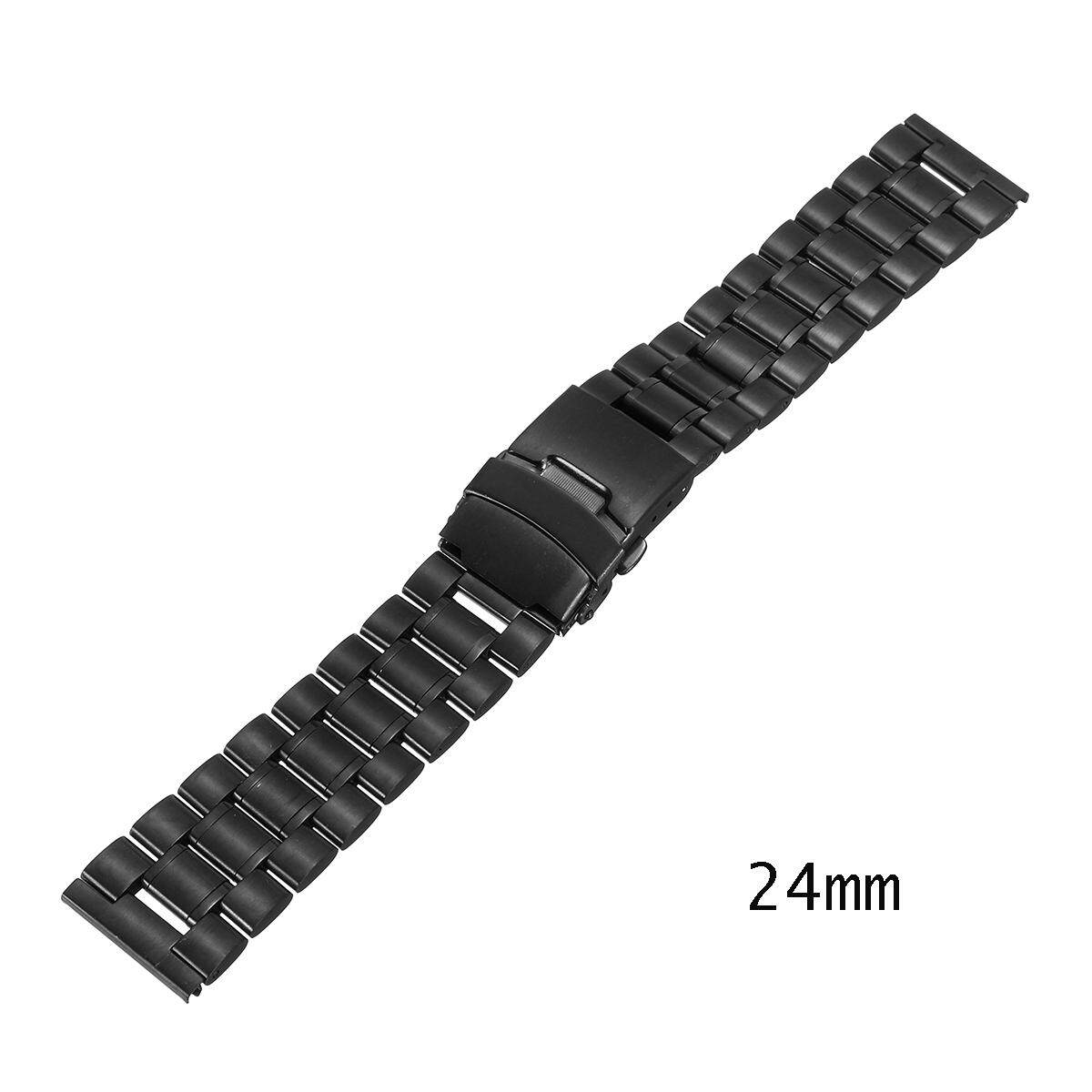 24mm Stainless Steel Mens Watch Band Strap Double Lock Flip Bracelet Malaysia