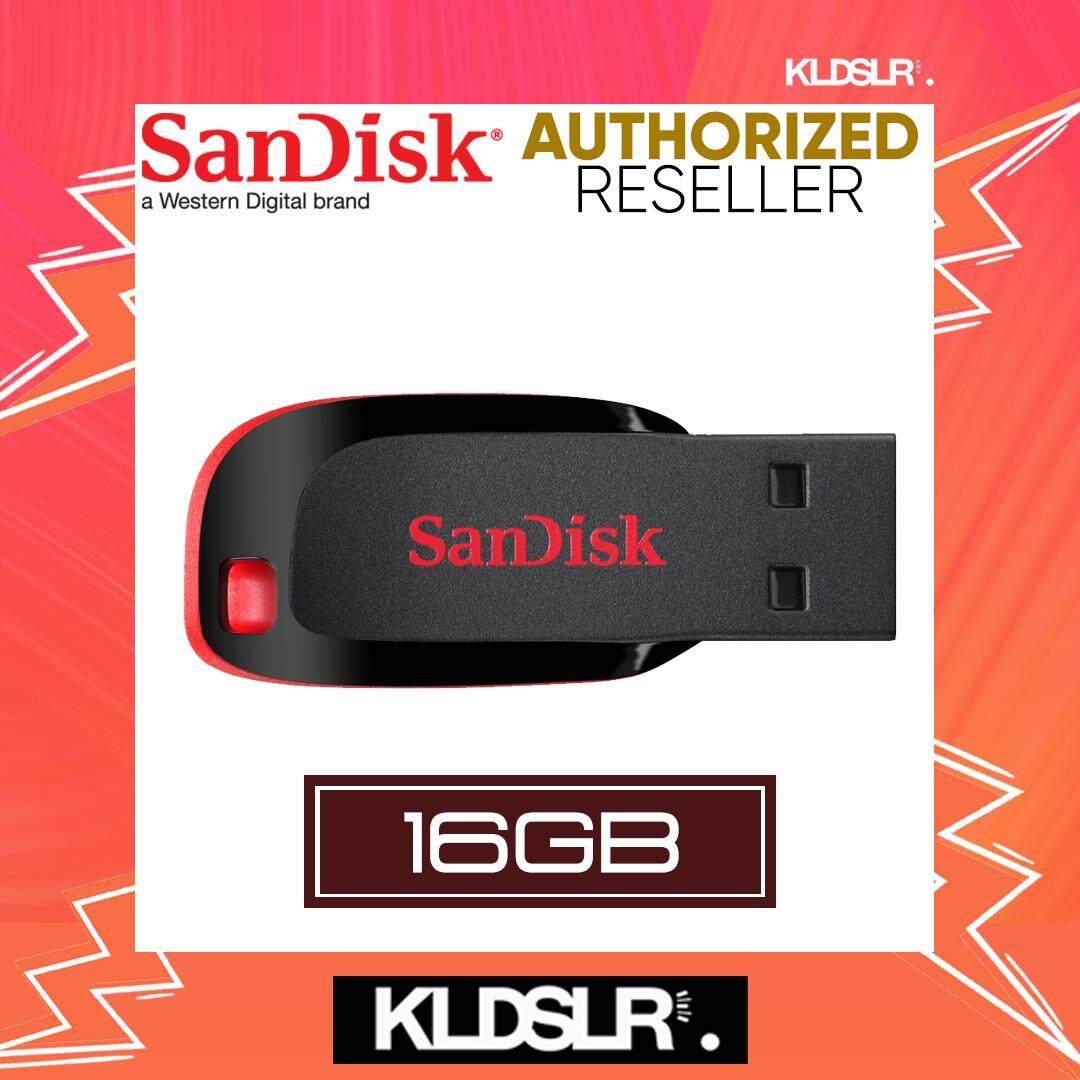 SanDisk Cruzer Blade 16GB Flash Drive (SDCZ50-016G-B35) Pendrive (SanDisk