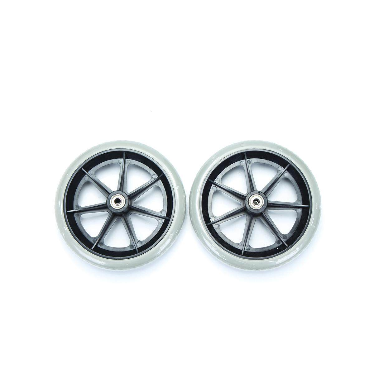 2pcs 6 Grey Rubber Small Non Marking Wheelchair Wheel Accessories By Ferry.