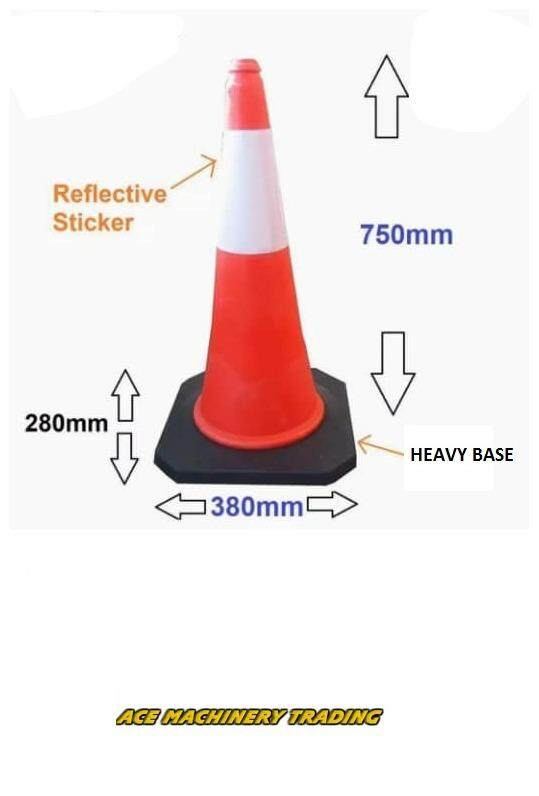 parking traffic safety cone block reflective safety 30(750mm height)