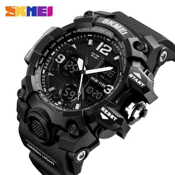[LazChoice]SKMEI Men Sport Watches Digital Chronograph Dual Display Alarm Watch 50M Waterproof EL Light Wristwatches Jam tangan lelaki For Man 55B Malaysia